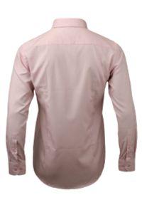 Różowa elegancka koszula Chiao długa, z długim rękawem