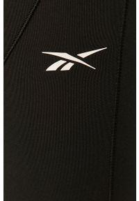 Czarne legginsy Reebok z podwyższonym stanem