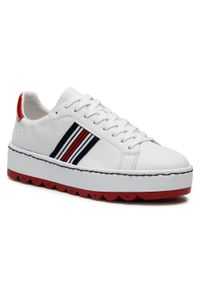 Rieker - Sneakersy RIEKER - N4622-81 Weiss. Okazja: na co dzień, na spacer. Kolor: biały. Materiał: skóra ekologiczna. Szerokość cholewki: normalna. Sezon: lato. Styl: casual