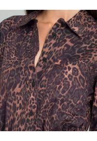 ONETEASPOON - Koszula w cętki. Typ kołnierza: kołnierzyk klasyczny. Kolor: brązowy. Materiał: wełna, jeans, materiał. Długość rękawa: długi rękaw. Długość: długie. Wzór: motyw zwierzęcy. Styl: klasyczny, elegancki, rockowy #4