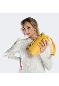Żółta listonoszka Wittchen elegancka, z kokardką
