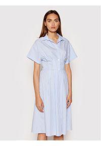 Rinascimento Sukienka koszulowa CFC0017854002 Niebieski Regular Fit. Kolor: niebieski. Typ sukienki: koszulowe