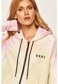 Wielokolorowa bluza rozpinana DKNY raglanowy rękaw, casualowa, na co dzień