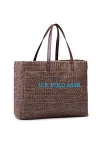 U.S. Polo Assn - Torebka U.S. POLO ASSN. - Ithaca L Shopping Bag Poly BEUIH5174WZB500 Brown. Kolor: brązowy