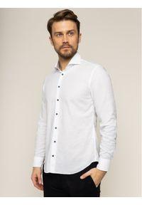 Baldessarini Koszula Henry 41247/000/40001 Biały Slim Fit. Kolor: biały