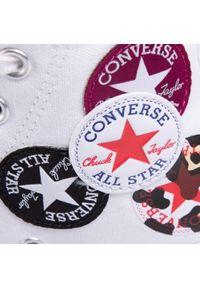 Białe półbuty Converse casualowe, na co dzień, z cholewką