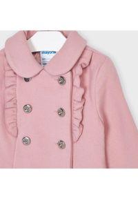 Mayoral Płaszcz 4409 Różowy Regular Fit. Kolor: różowy #2