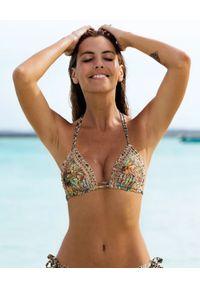 DEL MAAR - Top od bikini Kitsa. Kolor: beżowy. Materiał: materiał