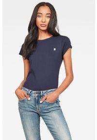 Niebieska bluzka G-Star RAW na co dzień, casualowa