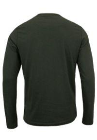 Brave Soul - Koszulka Zielona, Khaki z Długim Rękawem, Longsleeve, T-shirt Męski -BRAVE SOUL. Okazja: na co dzień. Kolor: zielony, brązowy, wielokolorowy. Materiał: bawełna. Długość rękawa: długi rękaw. Długość: długie. Styl: casual