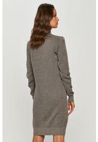 Szara sukienka Trussardi Jeans z długim rękawem, prosta