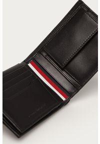 Czarny portfel TOMMY HILFIGER gładki