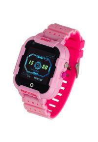 Różowy zegarek GARETT smartwatch, klasyczny
