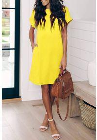 Żółta sukienka mini IVET na lato