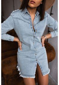 Marsala - Koszula MANCHESTER BY MARSALA sprany jasny jeans. Materiał: jeans. Długość: długie