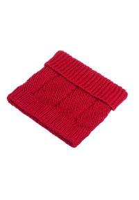 Komin damski PaMaMi - Czerwony. Kolor: czerwony. Materiał: poliamid, akryl #2