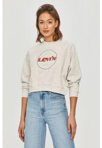 Levi's® - Levi's - Bluza bawełniana. Okazja: na spotkanie biznesowe, na co dzień. Kolor: szary. Materiał: bawełna. Długość rękawa: długi rękaw. Długość: długie. Wzór: nadruk. Styl: casual, biznesowy