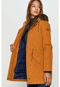 Pomarańczowa kurtka Roxy z kapturem, casualowa #7