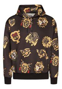 Versace Jeans Couture Bluza B7GZB704 Czarny Regular Fit. Kolor: czarny