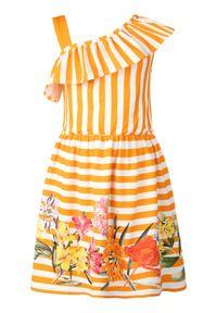 Pomarańczowa sukienka Mayoral casualowa, na co dzień, prosta