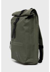 Rains - Plecak 1316 Rolltop Rucksack. Kolor: zielony