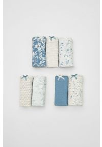 Women Secret - women´secret - Figi (7-pack). Kolor: niebieski