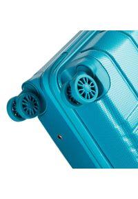 Turkusowa walizka Wittchen w kolorowe wzory