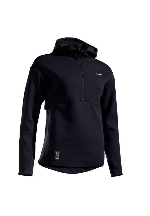 ARTENGO - Bluza tenis SW DRY 900 damska. Kolor: czarny. Materiał: materiał, tkanina. Sport: tenis
