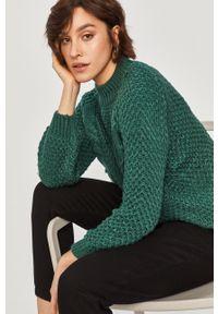 Zielony sweter Answear Lab z długim rękawem, wakacyjny