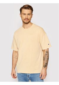 Champion T-Shirt Unisex Crewneck 216205 Żółty Oversize. Kolor: żółty