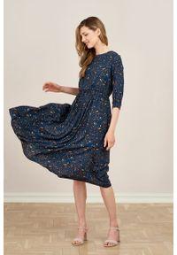 Marie Zélie - Sukienka Livia Guttae. Materiał: bawełna, wiskoza, materiał, tkanina, skóra. Długość rękawa: krótki rękaw