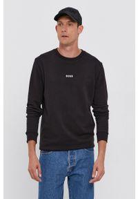 BOSS - Boss - Bluza Boss Casual. Okazja: na co dzień. Kolor: czarny. Materiał: dzianina. Wzór: gładki. Styl: casual