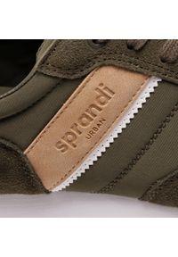 Zielone sneakersy Sprandi z cholewką, na co dzień