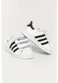 Białe buty sportowe adidas Originals z cholewką, na rzepy