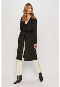 Czarny płaszcz Vero Moda bez kaptura, klasyczny, na co dzień