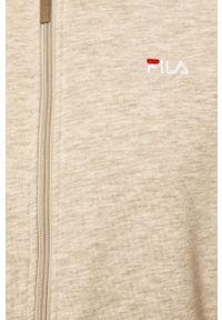 Szara bluza rozpinana Fila melanż, z kapturem