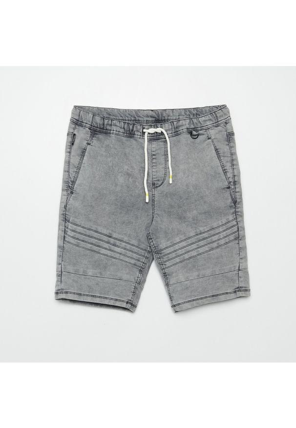Cropp - Jeansowe szorty jogger - Jasny szary. Kolor: szary. Materiał: jeans
