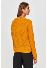 Żółty sweter Jacqueline de Yong z długim rękawem, z okrągłym kołnierzem #5