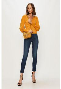 Żółty sweter Morgan z długim rękawem, długi, na co dzień, casualowy