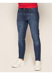 Guess Jeansy Super Skinny Fit Chris M0YA27 D4321 Granatowy Super Skinny Fit. Kolor: niebieski. Materiał: jeans