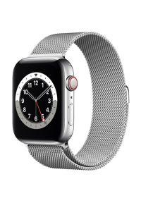 Srebrny zegarek APPLE smartwatch, wakacyjny