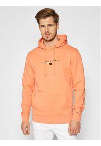 TOMMY HILFIGER - Tommy Hilfiger Bluza Essential Tommy MW0MW17382 Pomarańczowy Regular Fit. Kolor: pomarańczowy