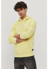 Żółta bluza nierozpinana Tom Tailor casualowa, gładkie