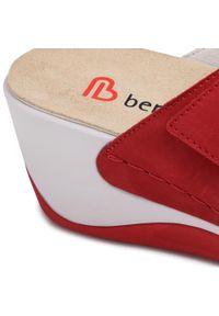 Berkemann - Klapki BERKEMANN - Callista 01201 Rot 234. Okazja: na co dzień. Kolor: czerwony. Materiał: skóra, nubuk. Sezon: lato. Obcas: na obcasie. Styl: casual. Wysokość obcasa: średni