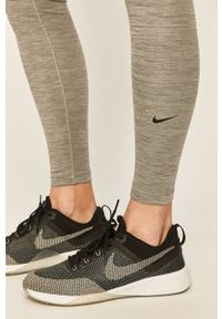 Nike - Legginsy. Kolor: szary. Materiał: tkanina