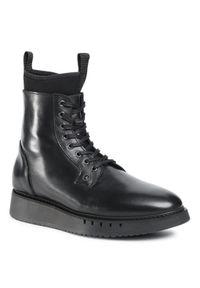 Czarne buty zimowe TOMMY HILFIGER sportowe