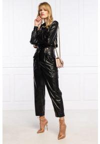 Czarne spodnie TwinSet klasyczne, z podwyższonym stanem