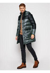 Trussardi Jeans - Trussardi Kurtka puchowa 52S00465 Szary Regular Fit. Kolor: szary. Materiał: puch