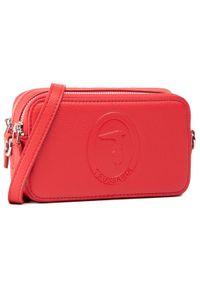Trussardi Jeans - Torebka TRUSSARDI - 75B01112 Red. Kolor: czerwony. Materiał: skórzane