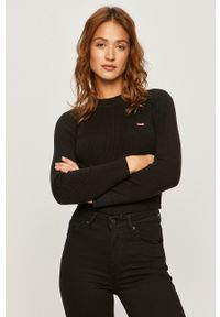 Czarny sweter Levi's® z długim rękawem, długi
